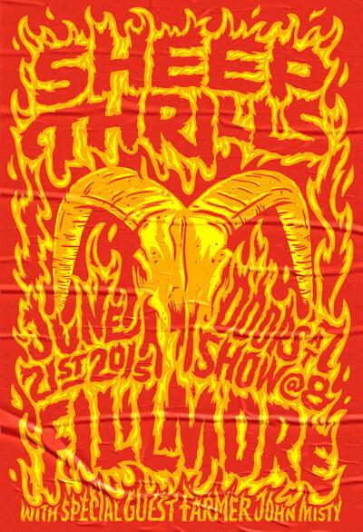 Atlassian Sheep Thrills Poster