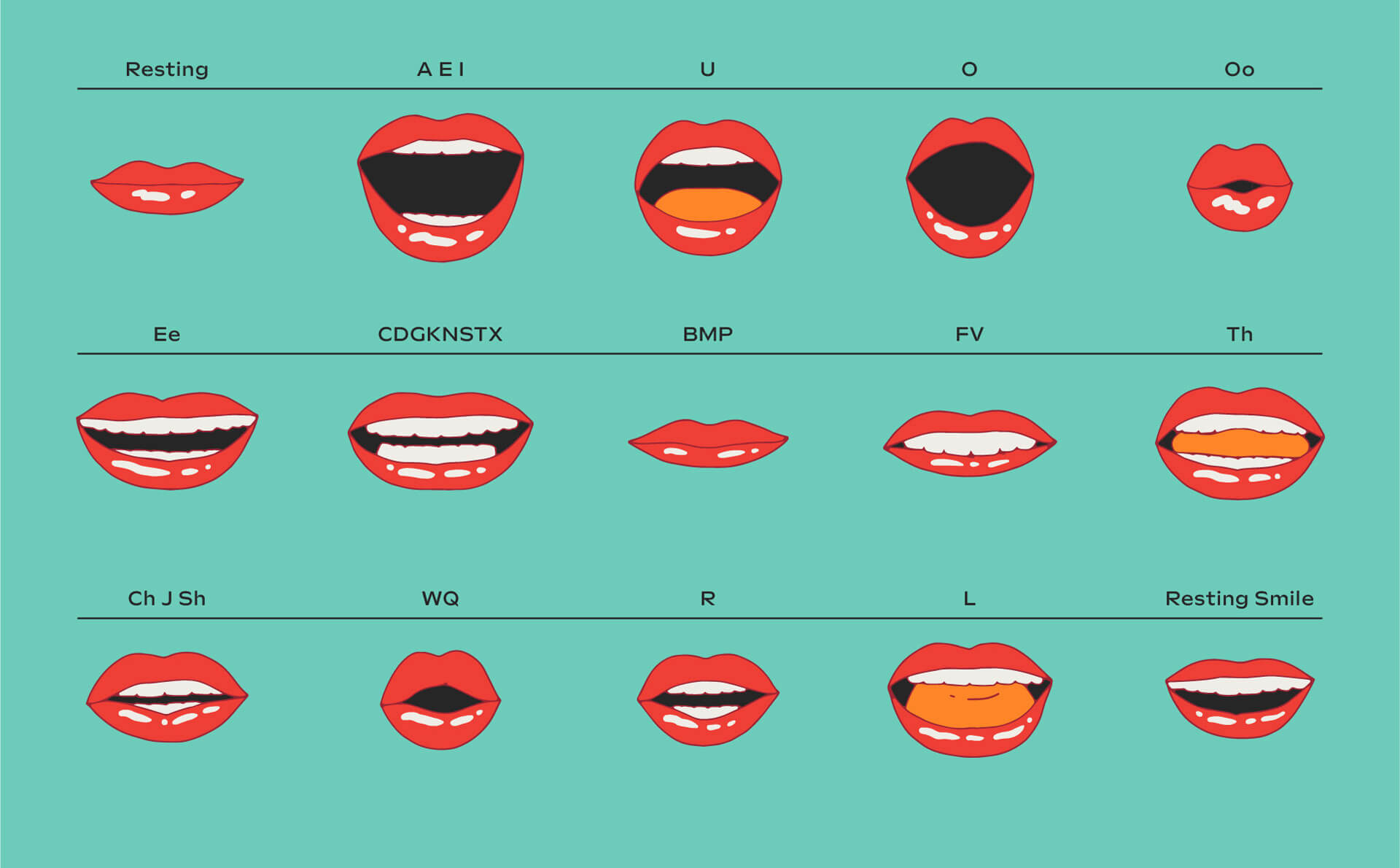 Bacardi Chorus Mouth Frames