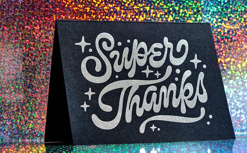 Super Thanks Glitter