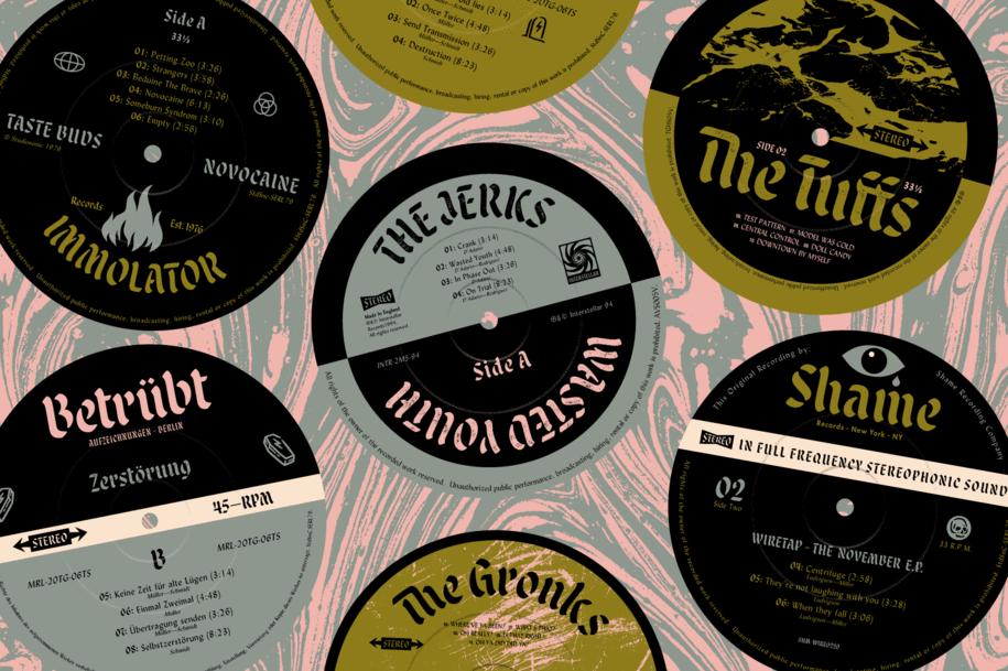Malice Stencil Record Labels