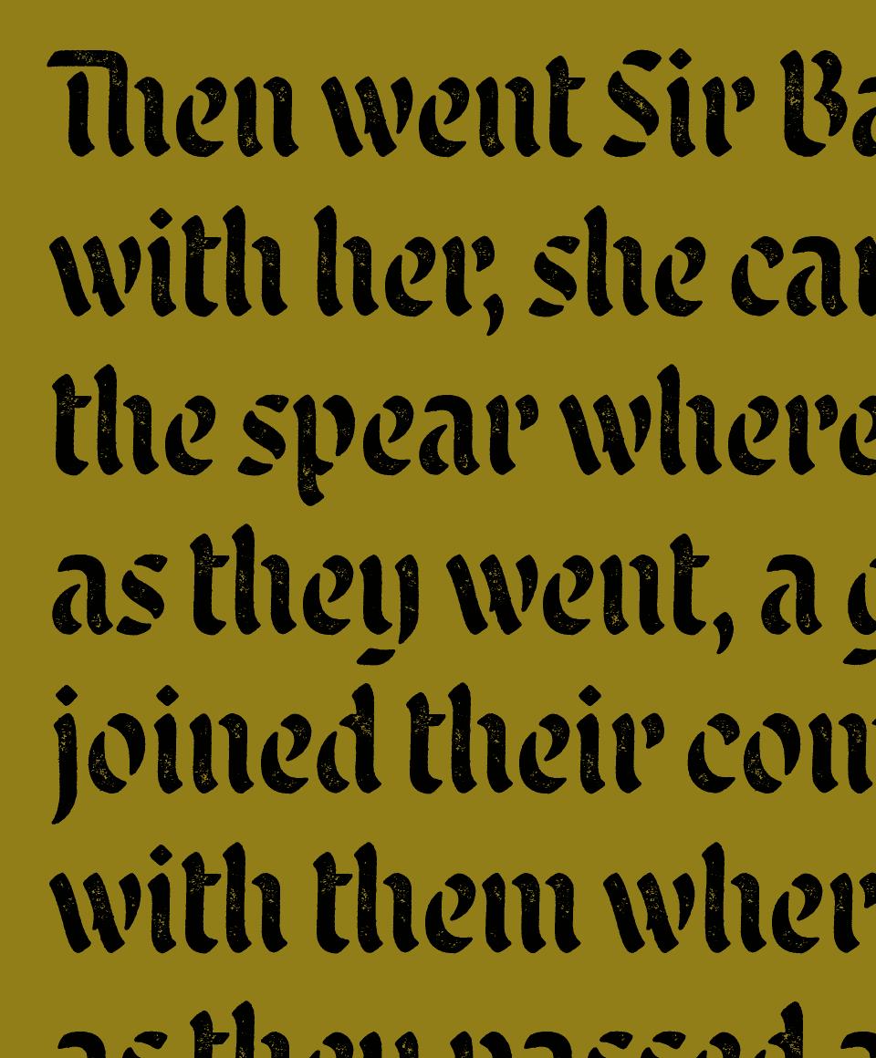 Malice Stencil Font