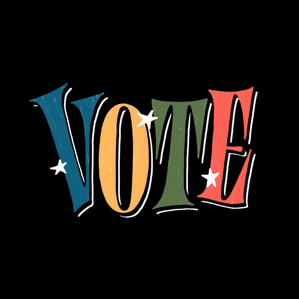 Vote Lettering