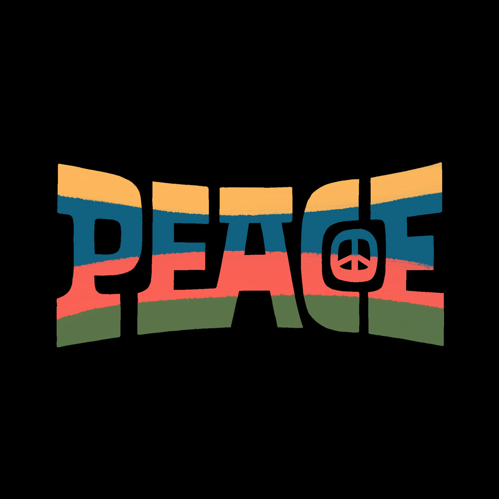 Peace Lettering