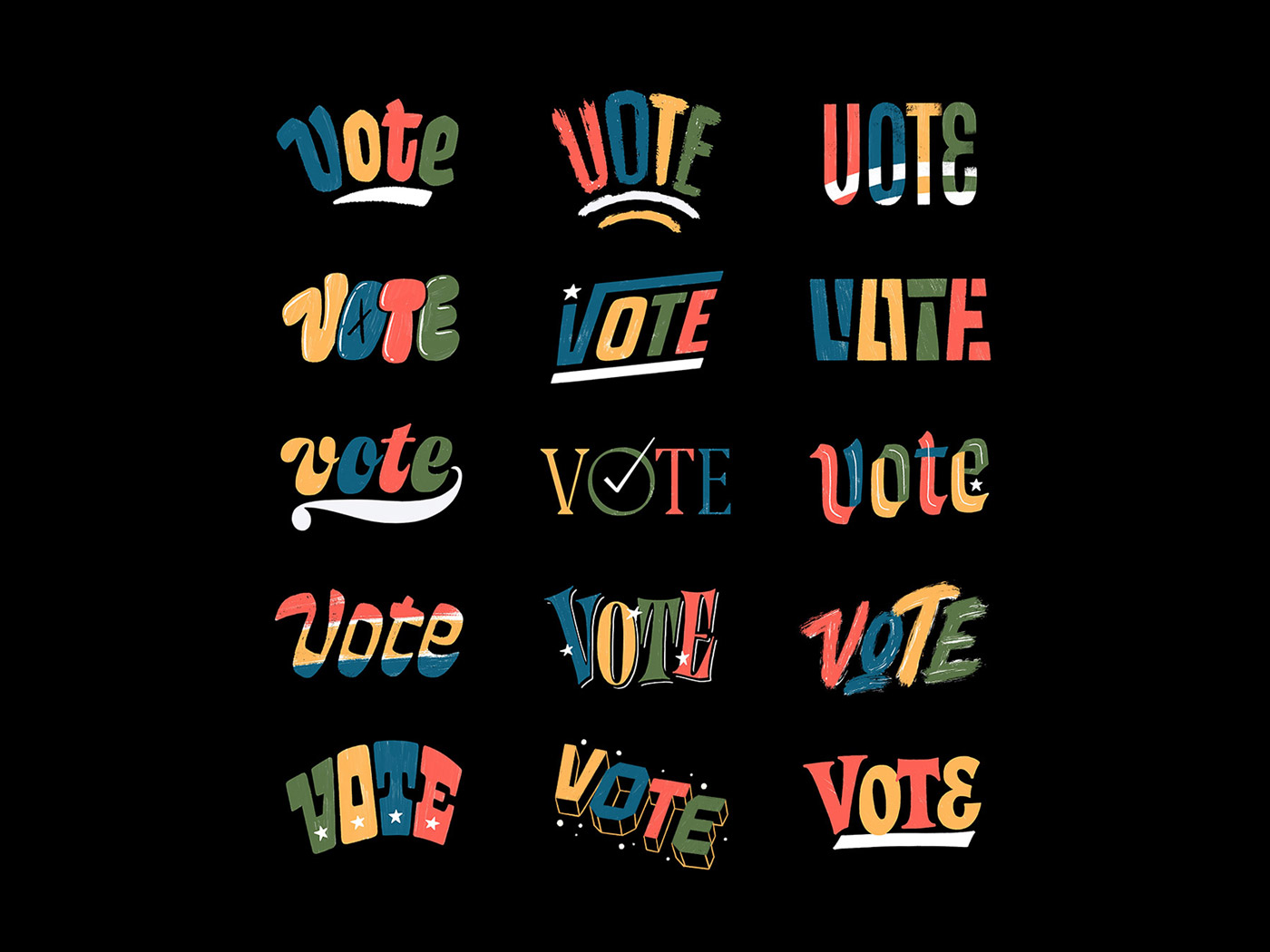 Vote Lettering Collection