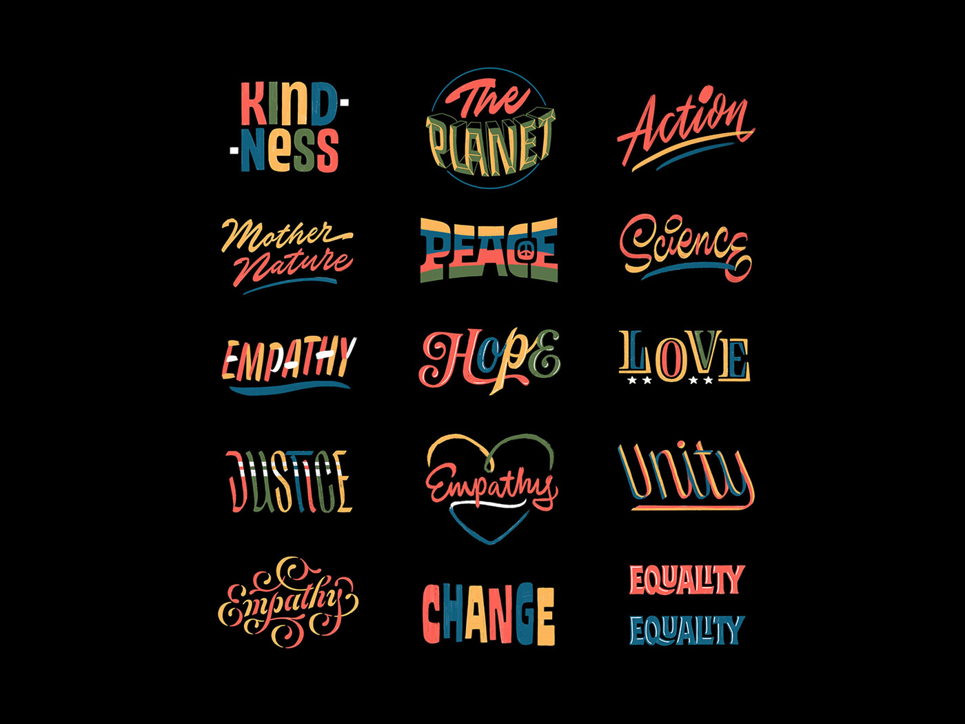 Reasons to Vote Lettering Collection