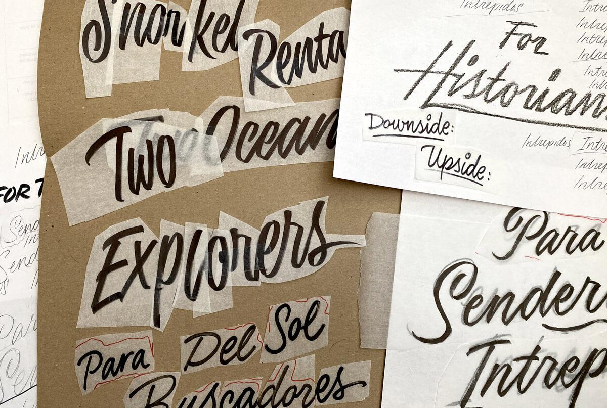 Panama Tourism Calligraphy Process