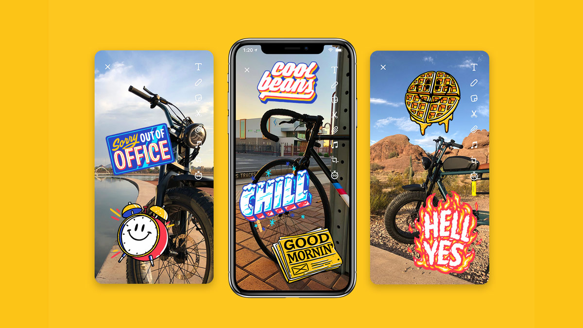Snap Type Stickers